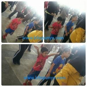 Kids doing zumba