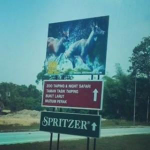 Spritzer signboard