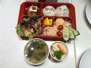 Saba bento set mackerel fish
