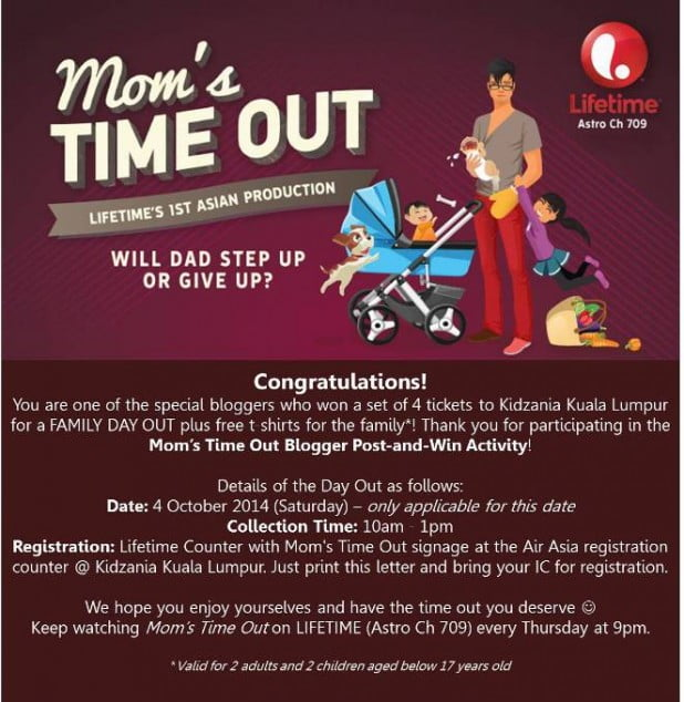 Blogger Winners - Mom's Time Out
