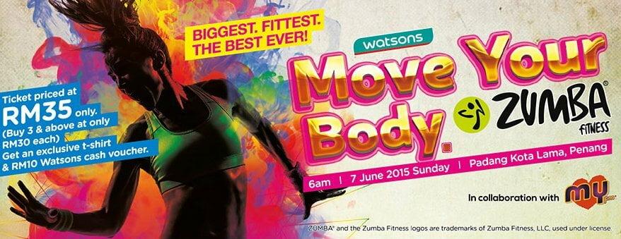 Watsons move your body is back with zumba kitepunye for Sideboard zumba