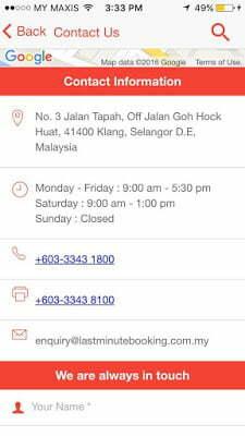 LMB (Last Minute Booking)