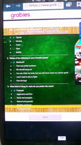Aplikasi Grabies Ada Permainan Apps Kungfu Panda 3