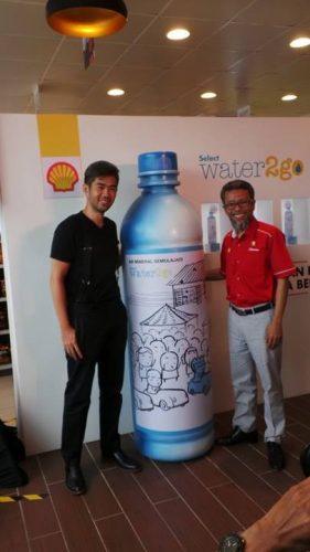 Sempena Shell Ke125, Artis Cheeming Boey Mereka Khas Botol Edisi Istimewa Water2go