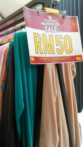 Benang Hijau & MCC Boutique Warehouse Sale Rugi Tak Pergi....